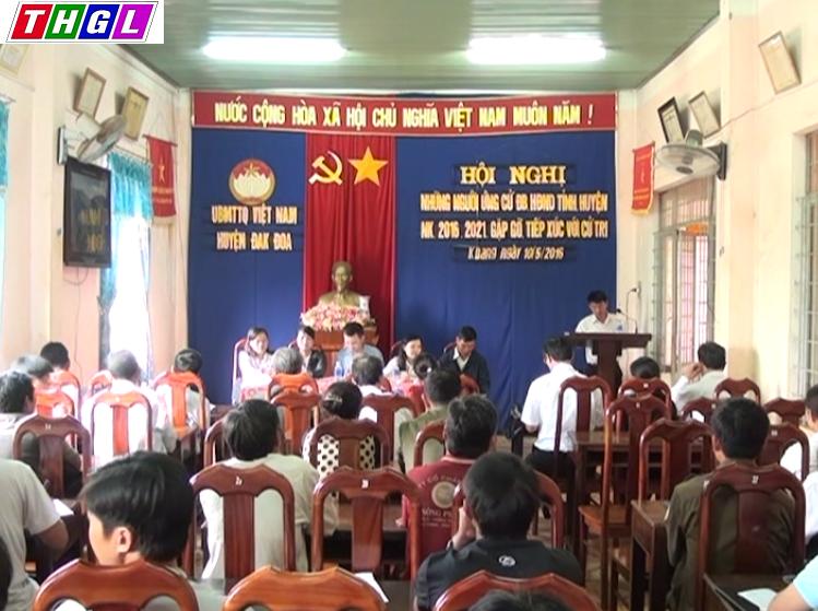 Tiếp xúc cử tri với người ứng cử đại biểu HĐND tỉnh khóa XI, tại Đơn vị bầu cử số 8-huyện Đak Đoa
