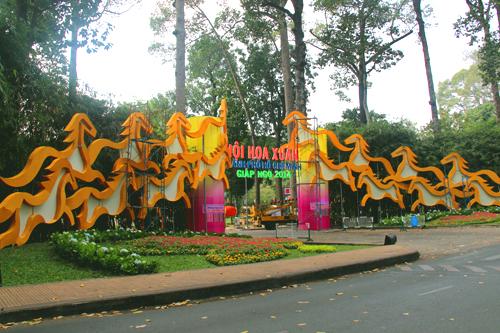 Hội hoa Xuân lớn nhất TPHCM chính thức mở cửa
