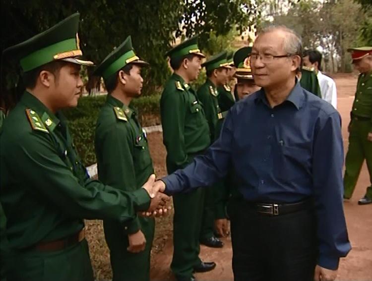 Chủ tịch UBND tỉnh thăm, kiểm tra tình hình an ninh trật tự khu vực biên giới