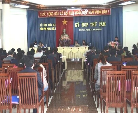 Khai mạc kỳ họp thứ tám Hội đồng nhân dân thành phố Pleiku (khóa X).