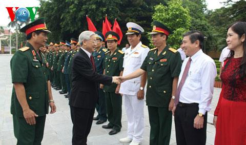 Tổng Bí thư dự lễ khai giảng của Học viện Quốc phòng