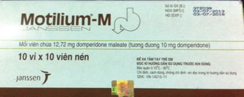 Khuyến cáo thuốc Motilium gây đột tử