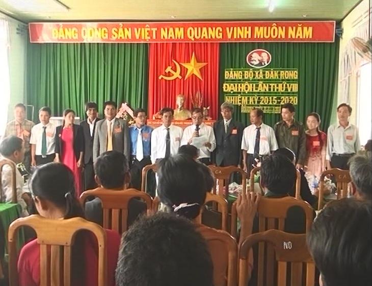 Đảng bộ xã Đăk Rong Đại hội lần thứ VIII