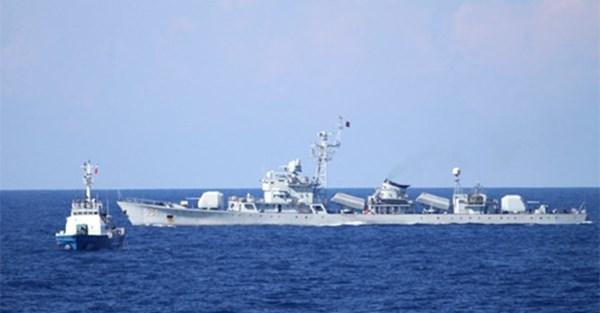 5 tàu quân sự Trung Quốc vẫn hiện diện ở Hoàng Sa