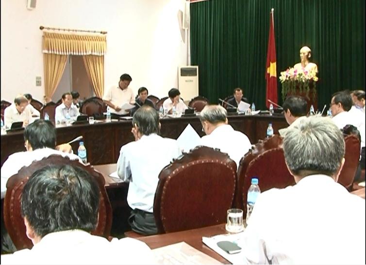 Đoàn đại biểu Quốc hội làm việc với UBND tỉnh về Chương trình xây dựng nông thôn mới.