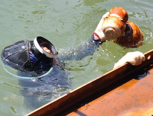 Khai quật con tàu chìm mới phát hiện ở Quảng Ngãi