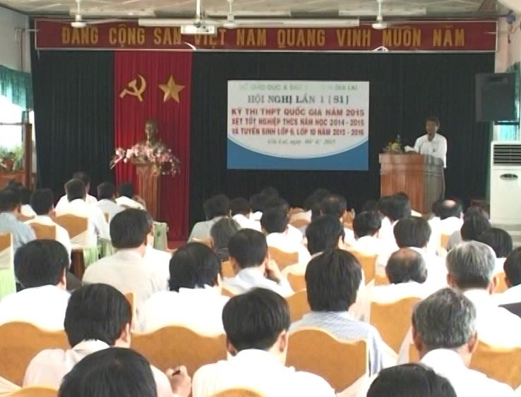 Hội nghị chuẩn bị công tác thi tốt nghiêp trung học phổ thông năm 2015.