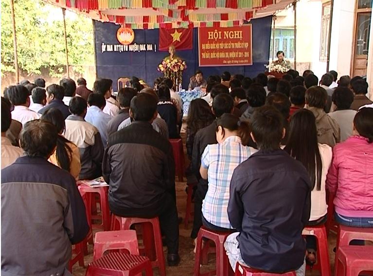 Đoàn đại biểu QH tỉnh Gia Lai tiếp xúc cử tri tại huyện Đăk Đoa