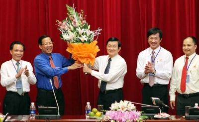 Chủ tịch nước Trương Tấn Sang tiếp Hội Doanh nhân trẻ Việt Nam
