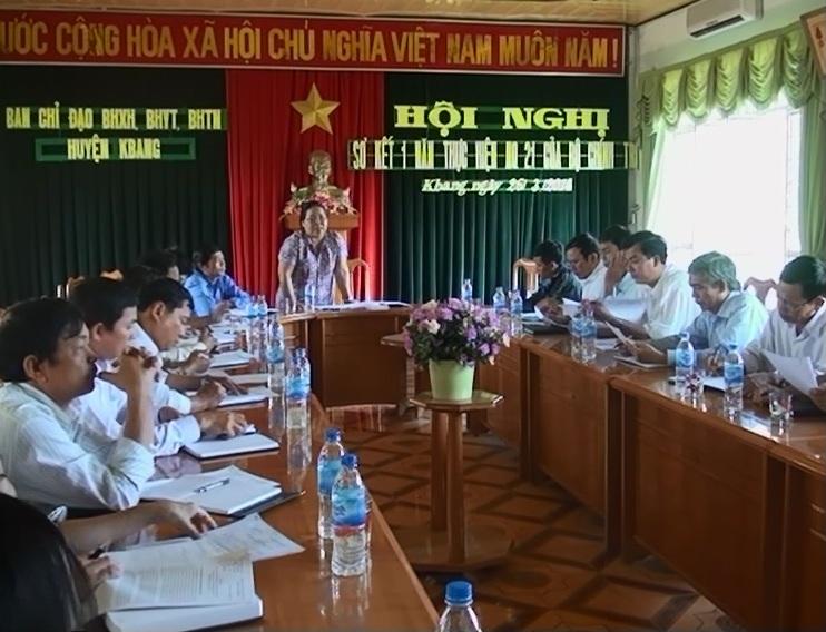 Kbang sơ kết 1 năm thực hiện Nghị quyết 21 của Bộ chính trị về công tác BHXH,BHYT.