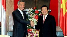 Chủ tịch nước Trương Tấn Sang tiếp Thủ tướng Singapore