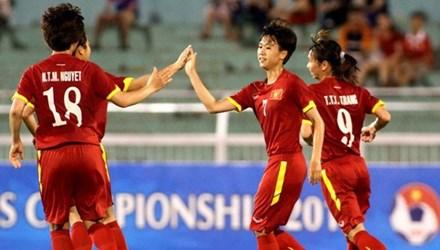 Tuyển nữ Việt Nam gặp Thái Lan ở bán kết AFF Cup