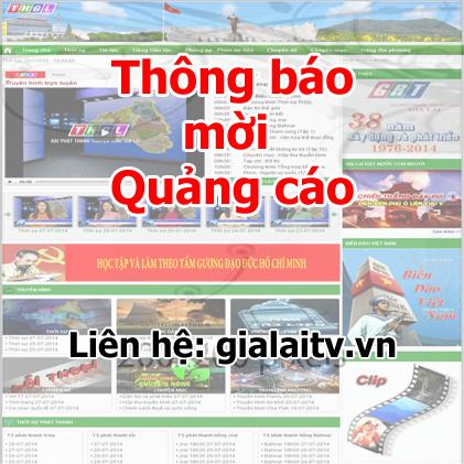 Lời mời quảng cáo trên Website Đài Phát thanh – Truyền hình Gia Lai