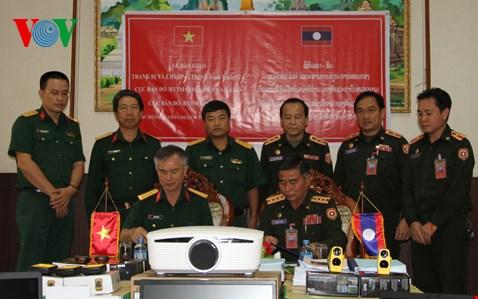 Bộ Quốc phòng Việt Nam giúp quân đội Lào phát triển ngành Bản đồ