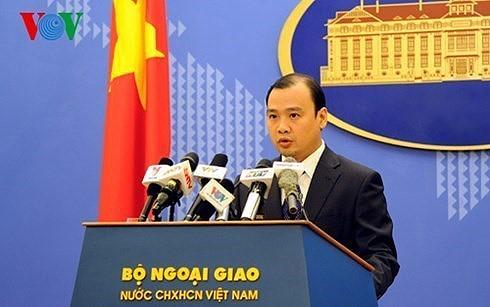 Việt Nam kiên quyết phản đối Trung Quốc xây dựng trái phép ở Trường Sa