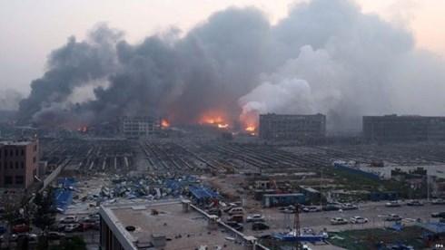 Sau vụ nổ ở Thiên Tân, chất lượng không khí vẫn ở mức cho phép