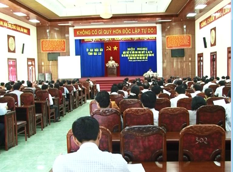 Hội nghị quán triệt và triển khai Nghị quyết 39-NQ/TW của Bộ Chính trị và Nghị Định 108/2016/ND-CP của Chính phủ về chính sách tinh giản biên chế.