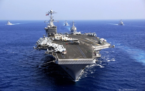 2 tàu sân bay Mỹ tham gia tập trận ở Biển Đông