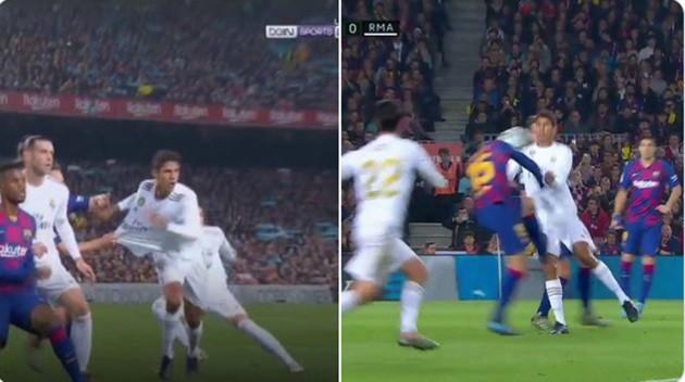 Real Madrid bị trọng tài bỏ qua 2 quả phạt đền ở trận El Clasico?
