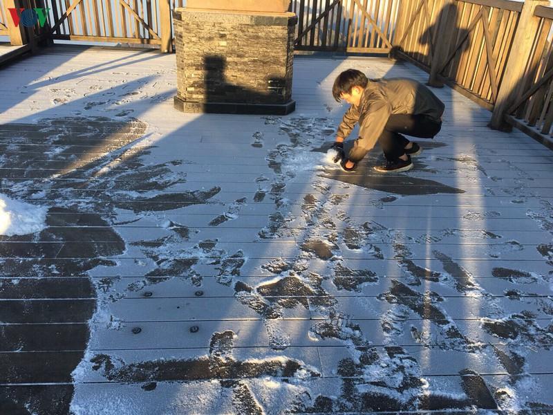 Nhiệt độ đỉnh Fansipan xuống 0 độ C, sương muối bắt đầu xuất hiện