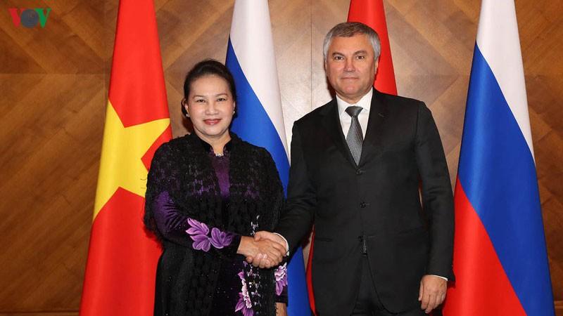 Báo chí Nga đưa đậm nét về chuyến thăm của Chủ tịch Quốc hội Việt Nam