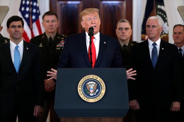 Không có trả đũa, Tổng thống Trump kêu gọi một thỏa thuận mới với Iran