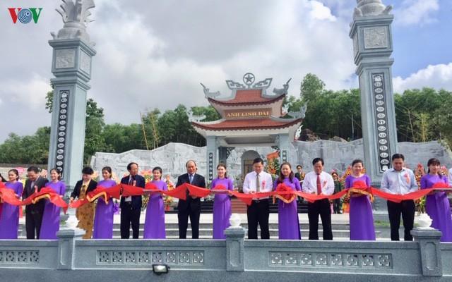 Thủ tướng dự Lễ khánh thành Đền thờ Liệt sĩ Núi Quế – Anh linh Đài
