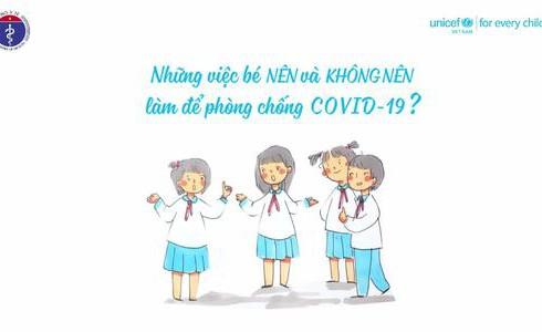 Những việc bé nên và không nên làm để phòng chống dịch Covid-19