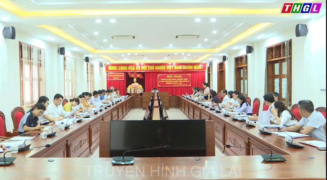 Thường trực HĐND tỉnh tổ chức Hội nghị chuẩn bị nội dung, chương trình Kỳ họp lần thứ Mười ba, HĐND tỉnh khóa XI, nhiệm kỳ 2016 – 2021