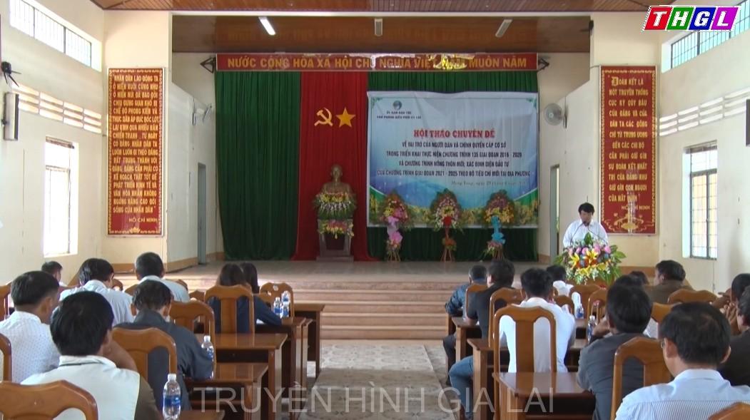 Hội thảo đánh giá Chương trình 135 giai đoạn 2016-2020 tại huyện Mang Yang