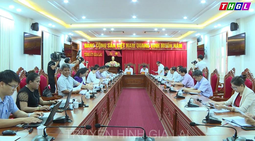 Đoàn công tác của BÍ Thư TW Đảng, Chủ tịch Ủy ban Trung ương MTTQ Việt Nam Trần Thanh Mẫn làm việc với Ban Thường vụ Tỉnh ủy Gia Lai