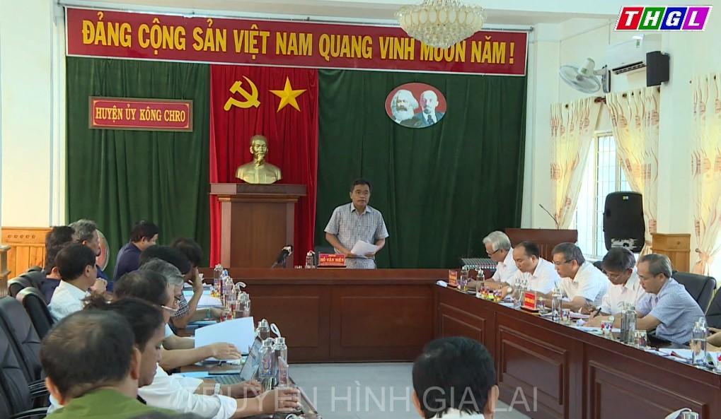 Bí thư Tỉnh ủy Hồ Văn Niên chủ trì duyệt nội dung Đại hội đại biểu Đảng bộ  huyện Kông Chro lần thứ VIII, nhiệm kỳ 2020-2025