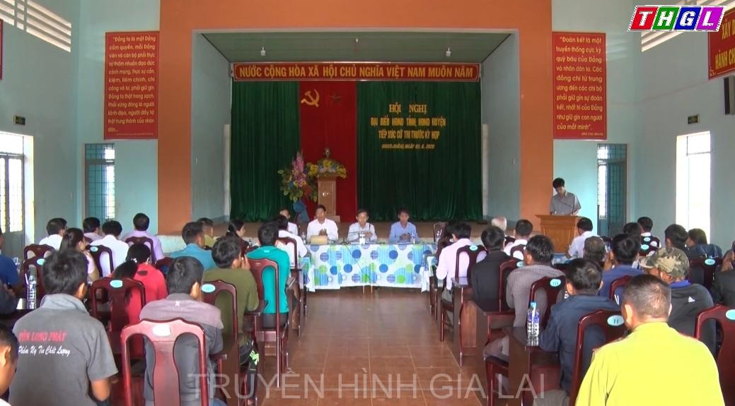 Đại biểu Hội đồng nhân dân tỉnh, huyện tiếp xúc cử tri xã Đak Djrăng
