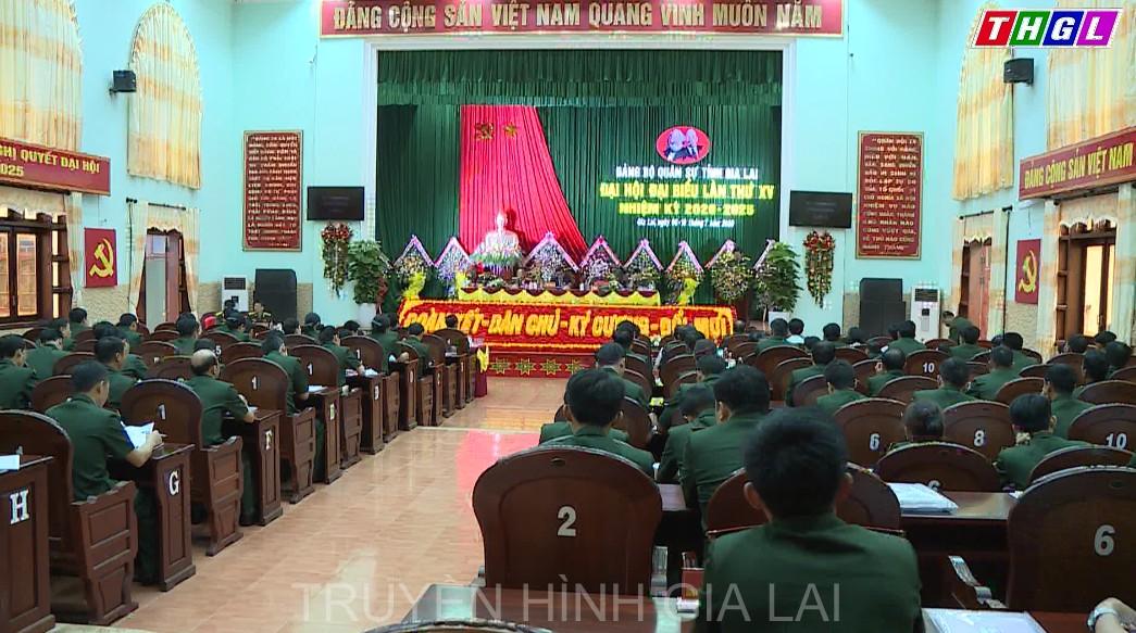 Bế mạc Đại hội Đảng bộ Quân sự tỉnh lần thứ XV, nhiệm kỳ 2020 – 2025
