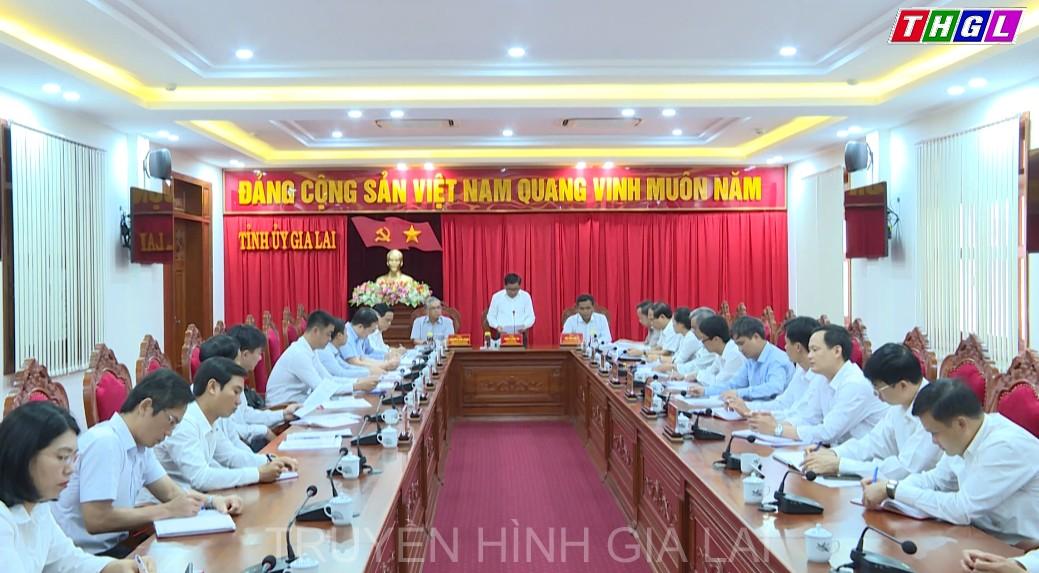 Bí thư Trung ương Đảng, Chủ nhiệm Ủy ban Kiểm tra Trung ương Trần Cẩm Tú làm việc với Thường trực Tỉnh ủy