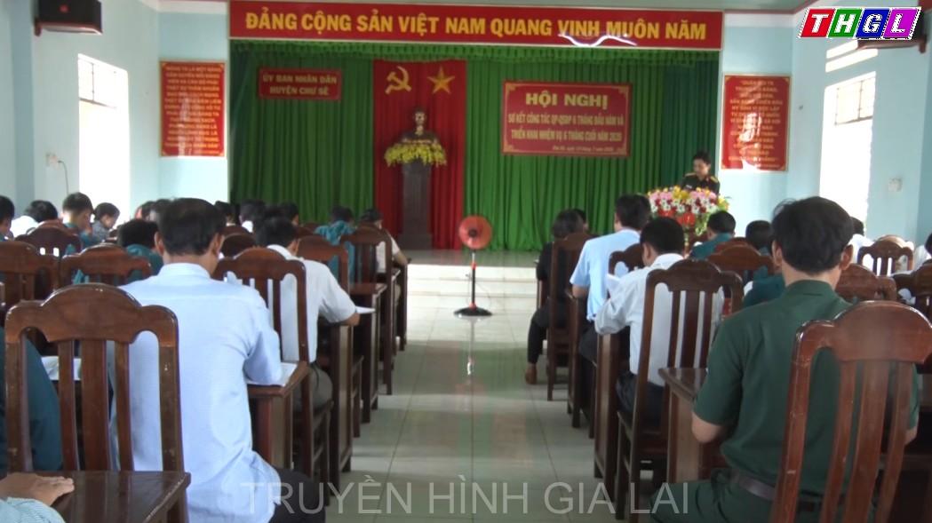Huyện Chư Sê tổ chức Hội nghị Sơ kết công tác quốc phòng – quân sự địa phương 6 tháng đầu năm 2020