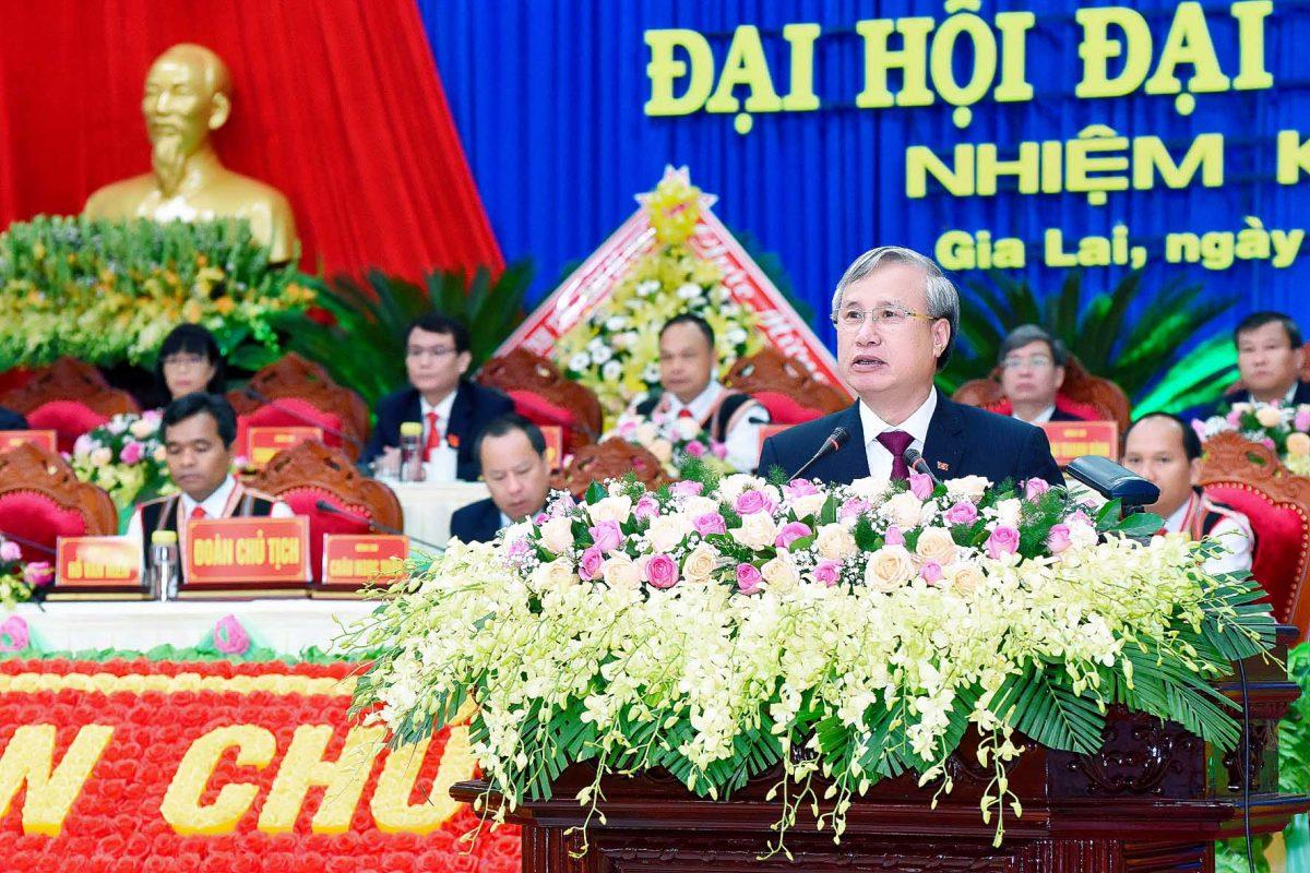 Toàn văn bài phát biểu của Ủy viên Bộ Chính trị, Thường trực Ban Bí thư Trần Quốc Vượng tại Đại hội đại biểu Đảng bộ tỉnh Gia Lai lần thứ XVI