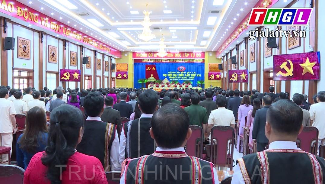 Ngày làm việc đầu tiên phiên chính thức Đại hội đại biểu Đảng bộ tỉnh Gia Lai lần thứ XVI, nhiệm kỳ 2020-2025