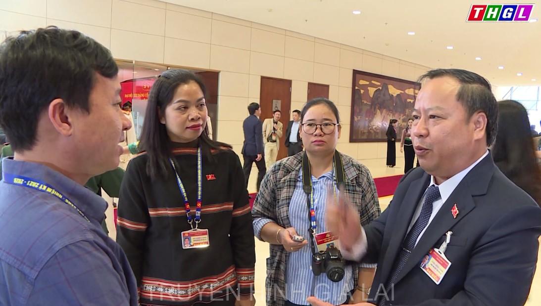 Các đại biểu đồng thuận cao với nội dung Văn kiện Đại hội XIII của Đảng