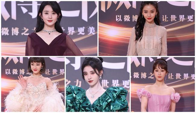 Thảm đỏ Đêm hội Weibo: Triệu Lệ Dĩnh, Angelababy kém nổi bật trong dàn mỹ nhân