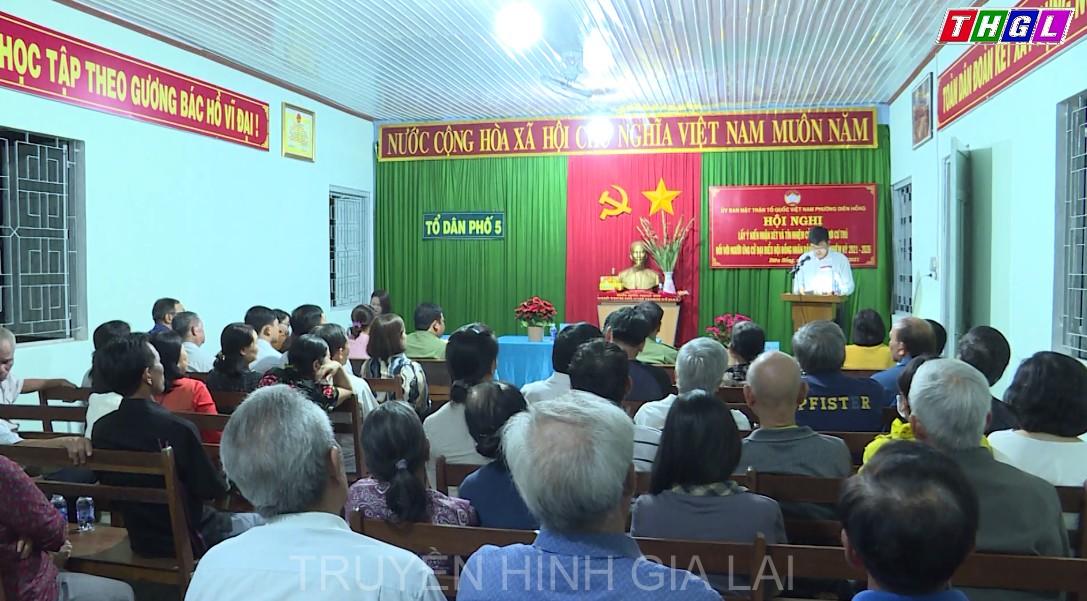 Thiếu tướng Rah Lan Lâm – Ủy viên BTV Tỉnh ủy, Bí thư Đảng ủy, Giám đốc Công an tỉnh dự hội nghị lấy ý kiến cử tri nơi cư trú
