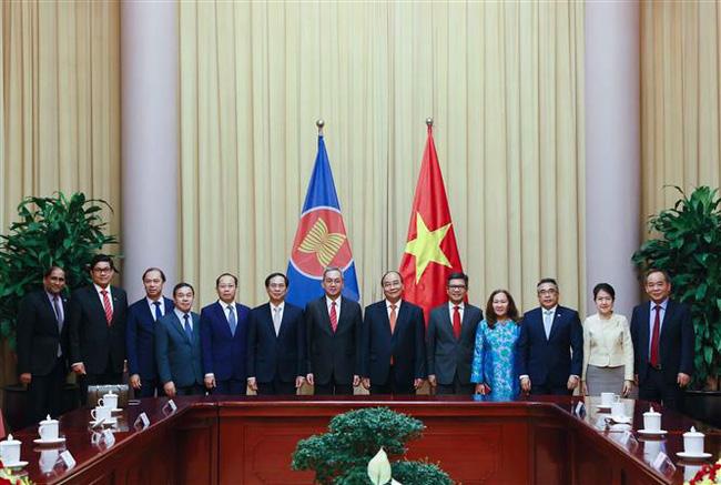 Các nước ASEAN chúc mừng Chủ tịch nước Nguyễn Xuân Phúc