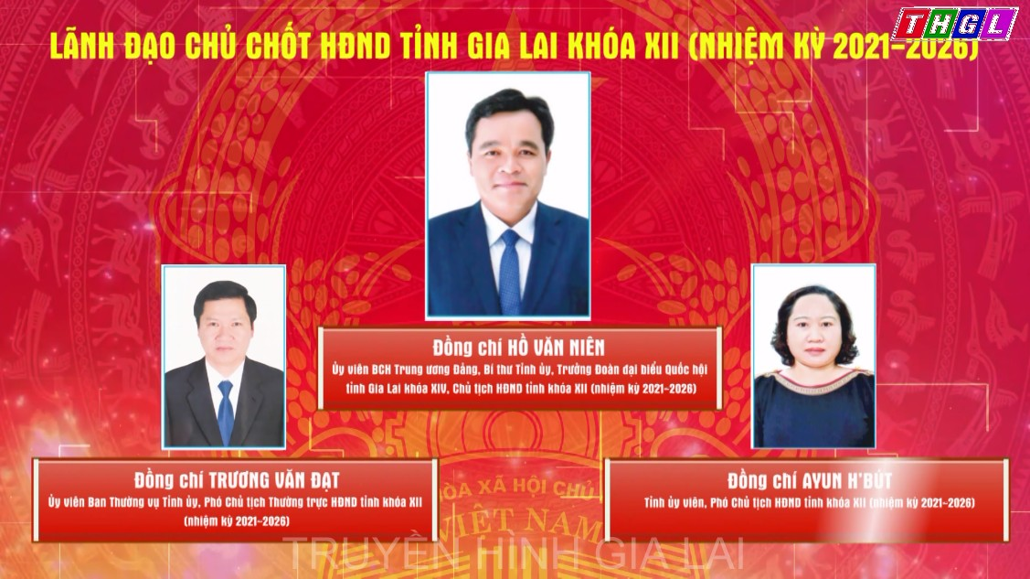 Các chức danh chủ chốt của HĐND và UBND tỉnh khóa XII (nhiệm kỳ 2021-2026)