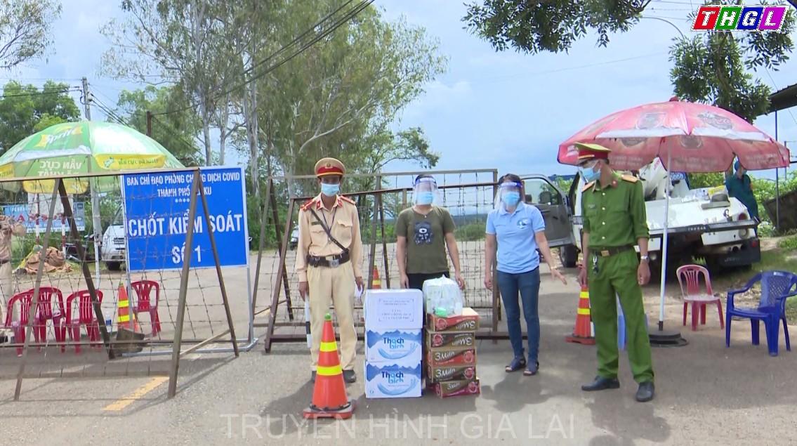 Hội Liên hiệp Phụ nữ TP.Pleiku tiếp sức cho lực lượng chốt chặn phòng dịch