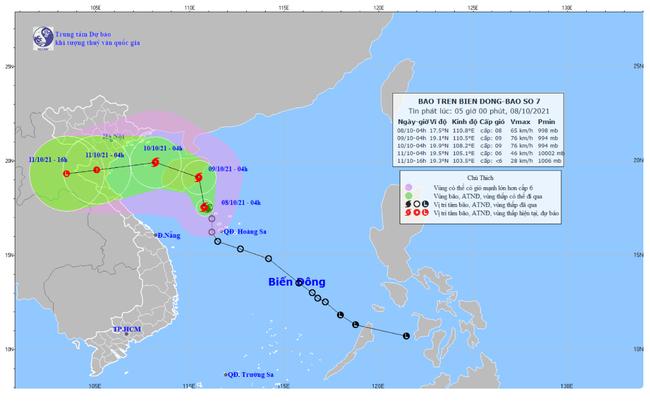 Áp thấp nhiệt đới đã mạnh lên thành bão, sức gió mạnh nhất giật cấp 10