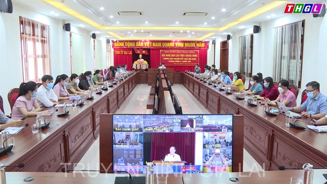 Hội nghị Báo cáo viên Trung ương thông báo nhanh kết quả Hội nghị Trung ương 4, khóa XIII